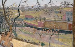 Обои пейзаж, картина, Ранняя Весна. Маленький Фавн, Пьер Боннар