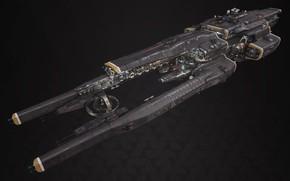 Картинка транспорт, корабль, борт, Fractured Space, Titan Defence Systems Equalizer