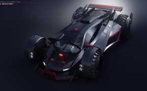 Картинка дизайн, автомобиль, batmobile concept