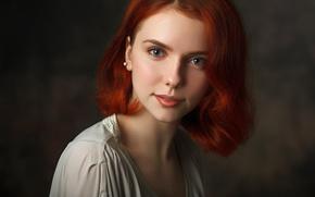 Картинка глаза, взгляд, девушка, портрет, фотограф, рыжая, Павел Черепко, Влада Колос