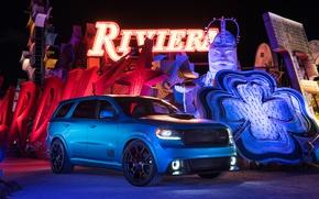 Картинка Ночь, Машины, Dodge, Автомобиль, Durango, Shaker, 2016, Dodge Durango Shaker