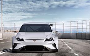 Картинка вид спереди, 2018, Seat, Cupra, E-Racer