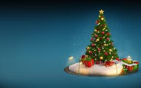 Обои winter, Рождество, snow, merry christmas, christmas tree, Новый Год, decoration
