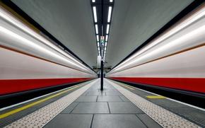 Обои метро, станция, Лондон, Англия, Клапхэм Коммон