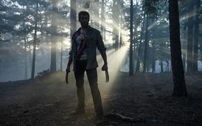 Картинка cinema, blood, forest, Wolverine, Hugh Jackman, X-Men, Logan, man, Marvel, movie, assassin, film, hitokiri