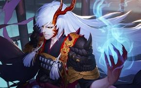 Картинка monster, armor, devil, anime, power, dragon, samurai, transformation, evil, asian, japanese, oriental, asiatic, powerful, horn, …