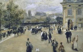 Картинка картина, городской пейзаж, Институт. Набережная Малаке, Пьер Огюст Ренуар, Pierre Auguste Renoir