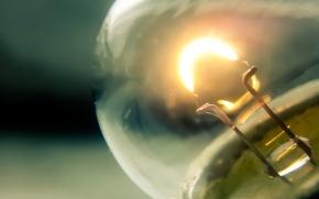 Картинка макро, лампа накаливания, атмосферное фото
