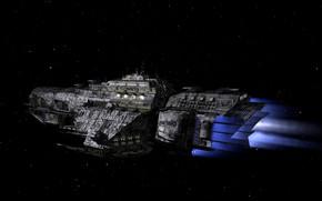 Картинка космос, валькирия, космический корабль, 3д графка
