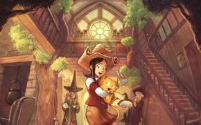 Картинка кот, David Revoy, poison, fairy, cat, комикс, ведьмы, comics, witch, ведьмочка, comic book, Pepper&Carrot, Перец …