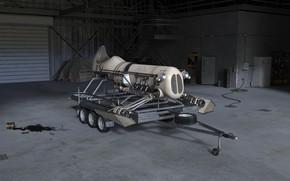 Картинка транспорт, гараж, прицеп, аппарат, Sky Machine hangar
