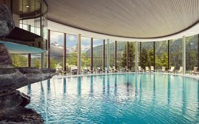 Картинка Pool, Indoor, St Moritz, Vackraste spaupplevelsen, Wellness