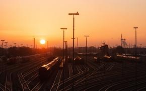 Картинка станция, железная дорога, Hamburg