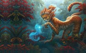 Картинка лес, девушка, фантастика, арт, Fantasy, art, фЭнтези, kerembeyit, Fantasy art