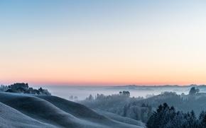 Картинка зима, небо, утро