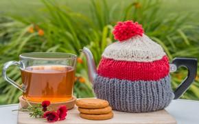 Картинка чай, чайник, печенье