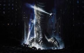 Картинка cinema, Japan, chaos, street, movie, 1998, asian, Godzilla, film, japanese, oriental, asiatic, by sachso74, moster