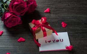 Обои love, свеча, цветок, роза, romantic, любовь, сердечки, Valentine's Day, сердце, подарок, открытка