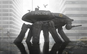Картинка потоп, police, Fortress Manhattan