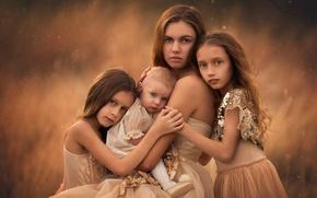 Картинка любовь, дети, мама, сёстры