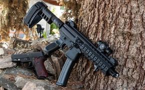 Картинка пистолет, submachine gun, SIG, СИГ, weapon, П226, пистолет пулемёт, SMG, P226, gun, MPX, оружие