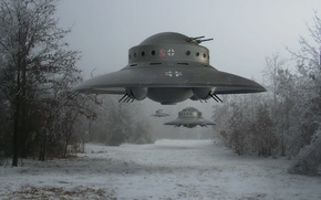 Картинка НЛО, Летающая тарелка, Вундерваффе, Диск Белонце