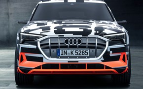 Картинка Audi, Prototype, вид спереди, 2018, электромобиль, E-Tron