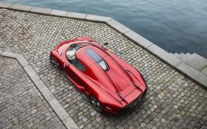 Обои Koenigsegg, суперкар, red, Regera, гиперкар