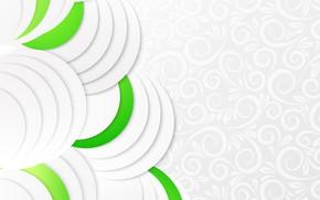Обои круги, green, узор, текстура, Abstract, абстракци, paper, Geometric
