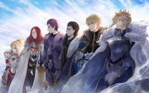 Картинка небо, аниме, арт, персонажи, Fate / Grand Order