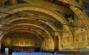 Обои Италия, фреска, Перуджа, Дворец приоров, Зал нотариусов