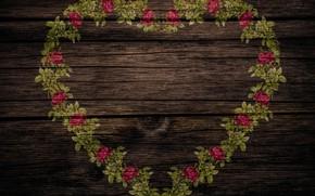 Обои винтаж, текстура, wood, шебби шик, розы, сердце, фон, стиль