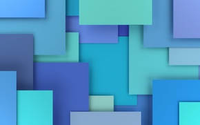 Обои colorful, abstract, design, blue, background, geometry, geometric shapes, 3D rendering