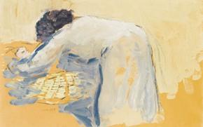 Картинка бумага на холсте, масло, Мать и дитя, Кес ван Донген