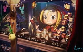Картинка малыш, магазин, витрина, Vafa Fan, Le Petit Chaperon rouge