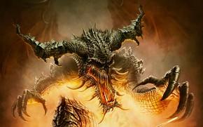 Картинка огонь, чудовище, Balduria Legends The Gates of Hell