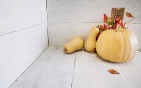 Картинка осень, листья, тыква