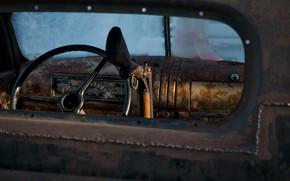 Обои ружьё, руль, машина