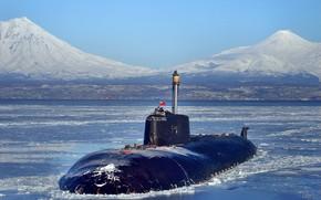 Картинка субмарина, вмф, атомная подводная лодка, проект 949
