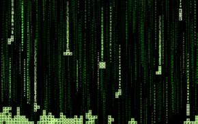 Картинка green, matrix, tetris