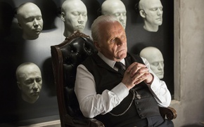 Обои Westworld, Anthony Hopkins, actor, show, Robert Ford, faces
