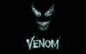 Обои фон, лого, Глаза, black, Sony, Logo, Eyes, 2018, venom, Comics, MARVEL, Venom, Марвел, Комиксы, symbiont, ...