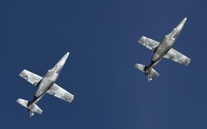 Картинка небо, самолёты, авиа шоу