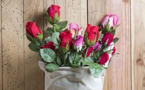 Обои бутоны, букет, Розы, цветы