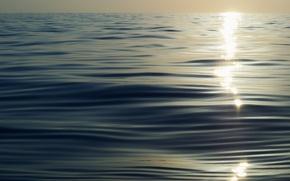 Картинка море, солнце, закат, синий, текстура, sea, sunset, blue, sun