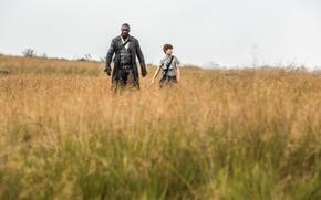 Картинка grass, man, boy, Idris Elba, gunslinger, Stephen King, Roland Deschain, The Dark Tower, Tom Taylor