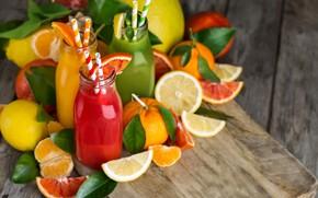 Картинка Апельсины, Сок, Цитрусы