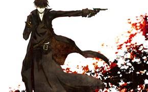 Картинка пистолет, арт, парень, Yondemasuyo Azazel-san