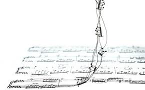Обои музыка, фон, ноты