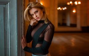 Картинка взгляд, девушка, модель, блондинка, Carla Sonre, Damian Piórko, carla sonre